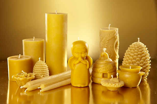 Different Beeswax Candles