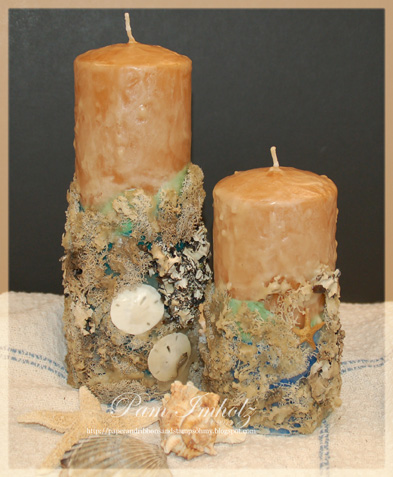 Beeswax Pillar Candles Customized