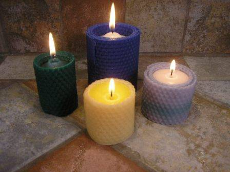 Votive Beeswax Candles Rolled
