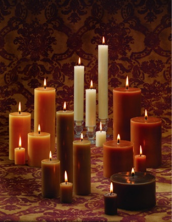 Beeswax Pillar Candle Family