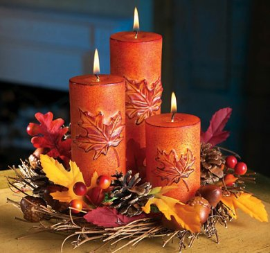 Thanksgiving Day Centerpieces Candle Decorations